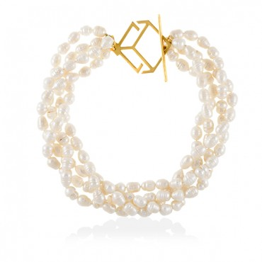 CUBE PEARL NECKLACE