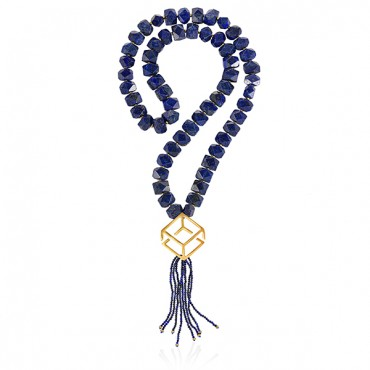 LAPIS LAZULI NECKLACE WITH TASSEL