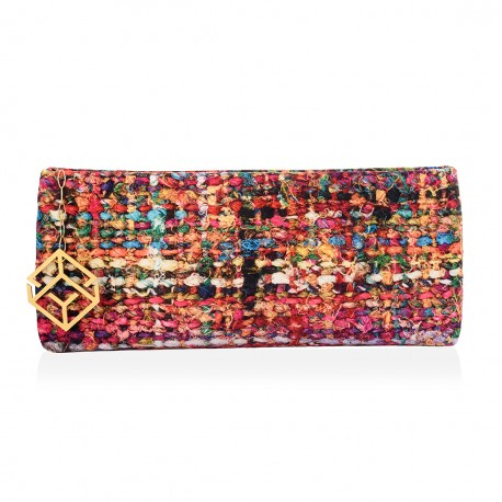 CLUTCH BAG VELVET FABRIC