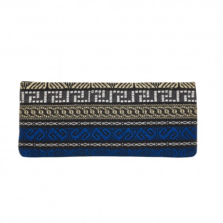 CLUTCH FABRIC and LEATHER