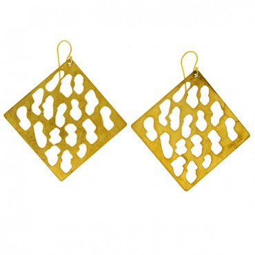 HAND-MADE EARRINGS GOLD-PLATED