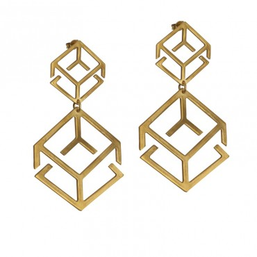 DOUBLE CUBE EARRINGS