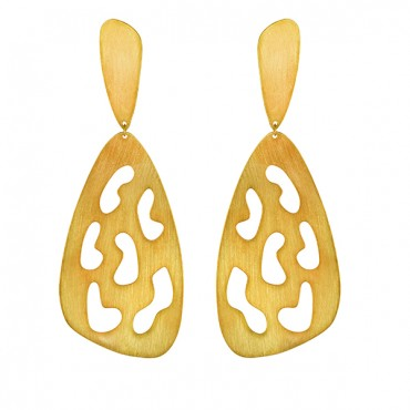 SILVER EARRINGS GOLD-PLATED