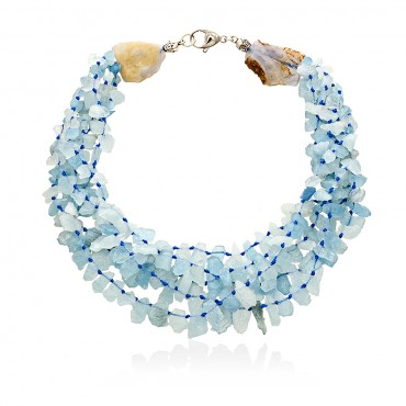 ANDROS NECKLACE AQUAMARINE