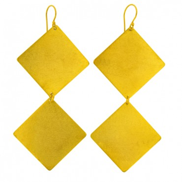 HAND-MADE EARRINGS GOLD PLATED
