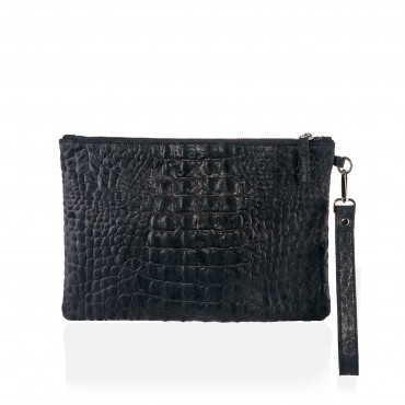 PINELOPI POCHETTE LEATHER CROCO
