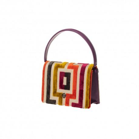ATHENS Mini Shoulder Bag in Velvet